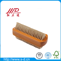 promotional small wooden nail brush nail dust cleaning brush applicator