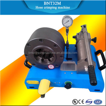2017 barnett 6-32mm steel wire hose crimp tool BNT32M hose crimping machine in China