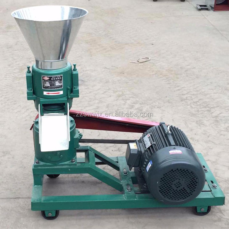 Lowest factory price capacity 150-300kg/h feed pellet machine with electric motor indian