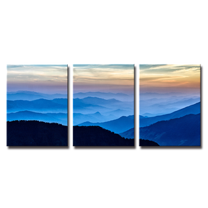 SEEGART gallery wrapped landscape wall decor HD picture hundreds mountains top printed on canvas for office