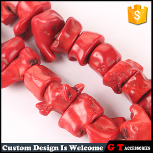 Fashion large stock big size hulking red oil dyed coral beads for necklace making