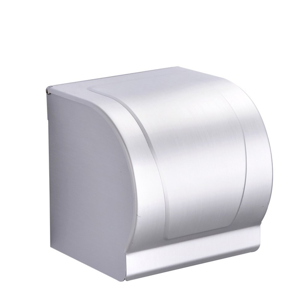 space aluminum Towel rack/ toilet paper tray/ bathroom paper holder/Thickened paper holder/Waterproof hygienic tray-A