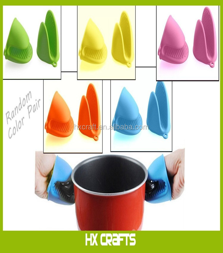 Silicone Pot Holder Mini Oven Mitt Hot Pot Grabbers Oven Cooking Pinch Grips  Kitchen Silicone Mini