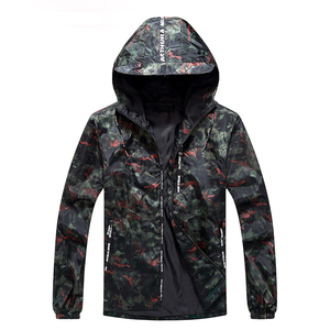 Cheap All Black Pullover Windbreak 100% Polyester Camouflage Waterproof Camo Men Sport Jacket
