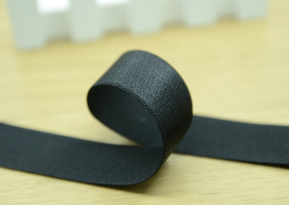 Satin Elastic,Waistband Elastic, 1 inch 25mm Black & White elastic band webbing