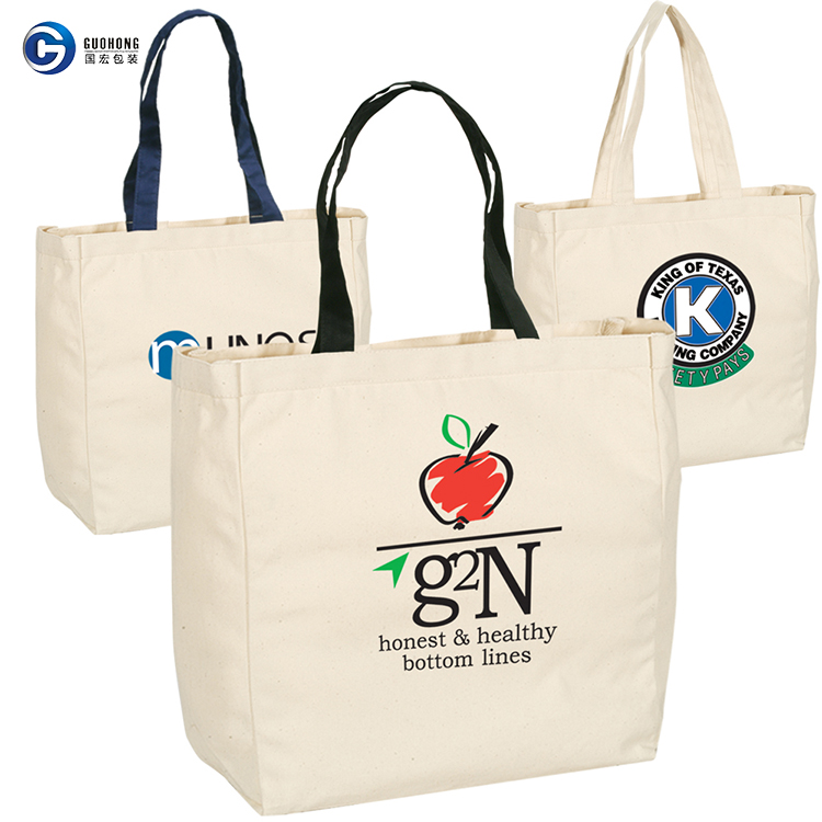Customized Wholesale Standard Size Eco Tote Cotton Canvas Bag