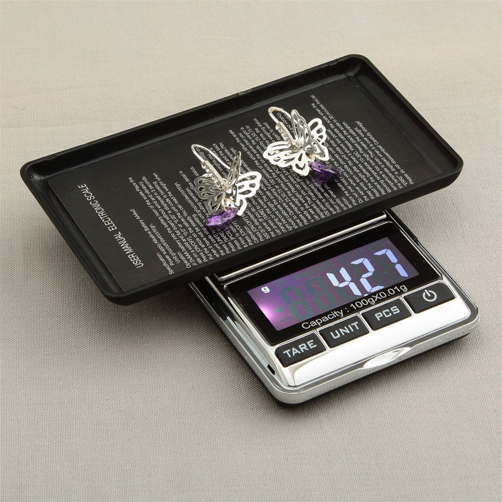 Portable Electronic Balance GRAM Digital Pocket Jewelry & Kitchen Food Weighing 100g/0.01g Scale