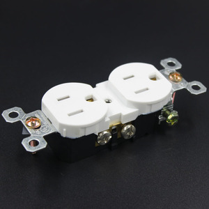 White Duplex socket outlet/US wall socket plug