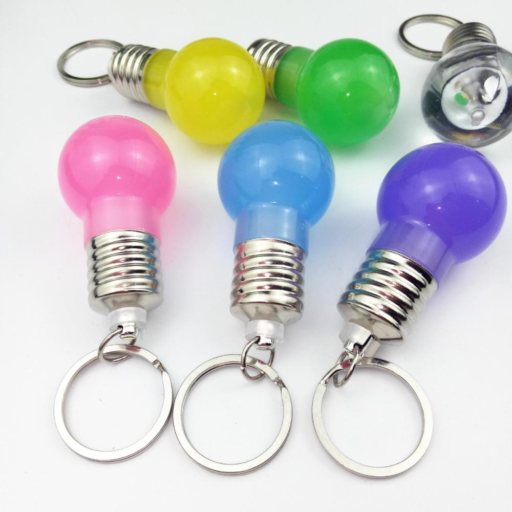 Led Flashlights New Fashion 5 Pcs Creative Colorful Changing Led Flashlight Light Mini Bulb Lamp Key Chain Ring Keychain Clear Lamp Torch Keyring Wholesale Low Price