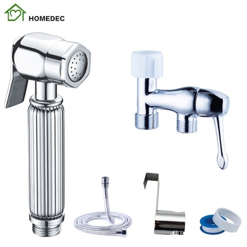Brass Chrome Toilet Cloth Diaper Bidet Sprayer Kit Bathroom Shattaf Set