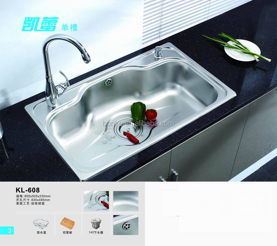 Above Counter Kitchen Sinkbasin Of KlStainless Steel - Kitchen sink models
