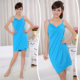 7001 super absorbent quick dry microfiber sexy women beach shower wearable bath towel wrap dress