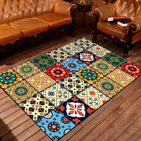 Indian Style Newest 3D Customized Design 100% Polyester Kids Floor Bedroom Carpet Mat