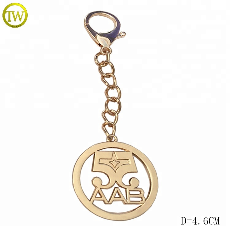 Good quality metal logo handbags hardware metal tag label with chain hook