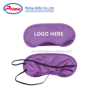 Custom Logo Printed Silk Eye Sleep Mask with Cheap Price