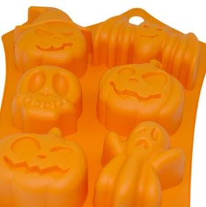 Silicone Model 6 Halloween Chocolate Ice Grid Mold Baking Model DIY Decorative Cake Mold