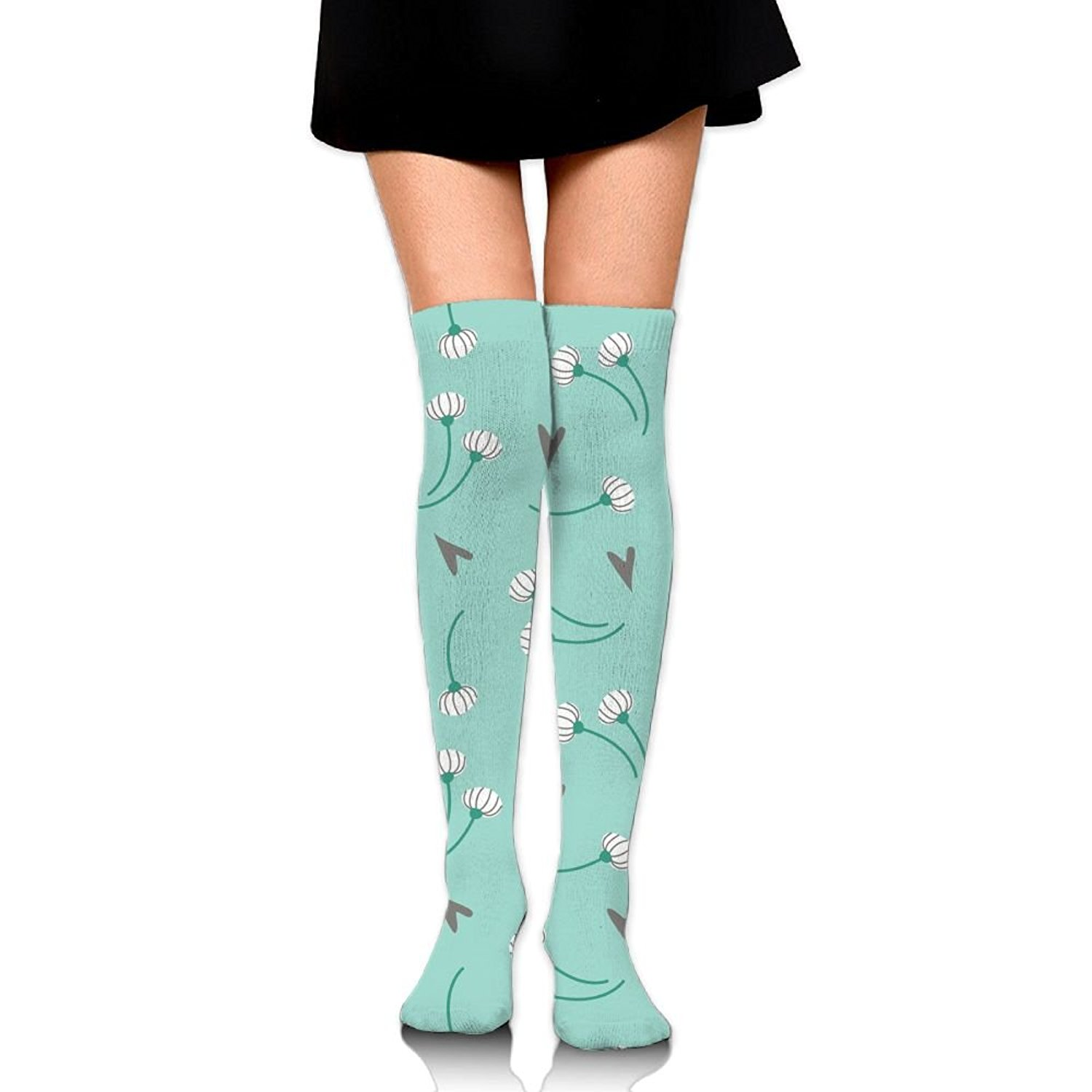 Zaqxsw Dandelion Women Retro Thigh High Socks Thermal Socks For Ladies