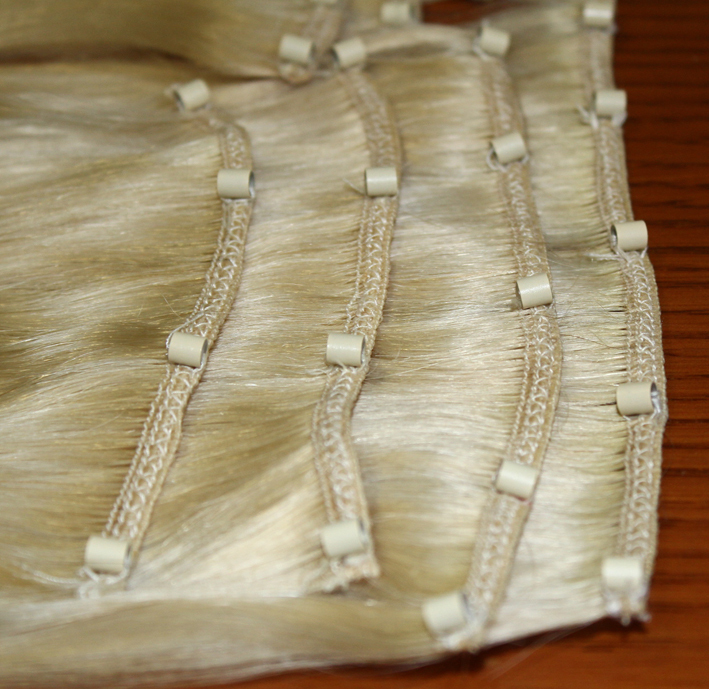 Factory Price Brazilian Remy Hair Micro Bead Hair Weft Extensions