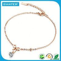 Custom Jewelry Bow Charm Women Chain Anklet Bracelet