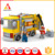 2 in 1 creative construction blocks hero and toy car city truck