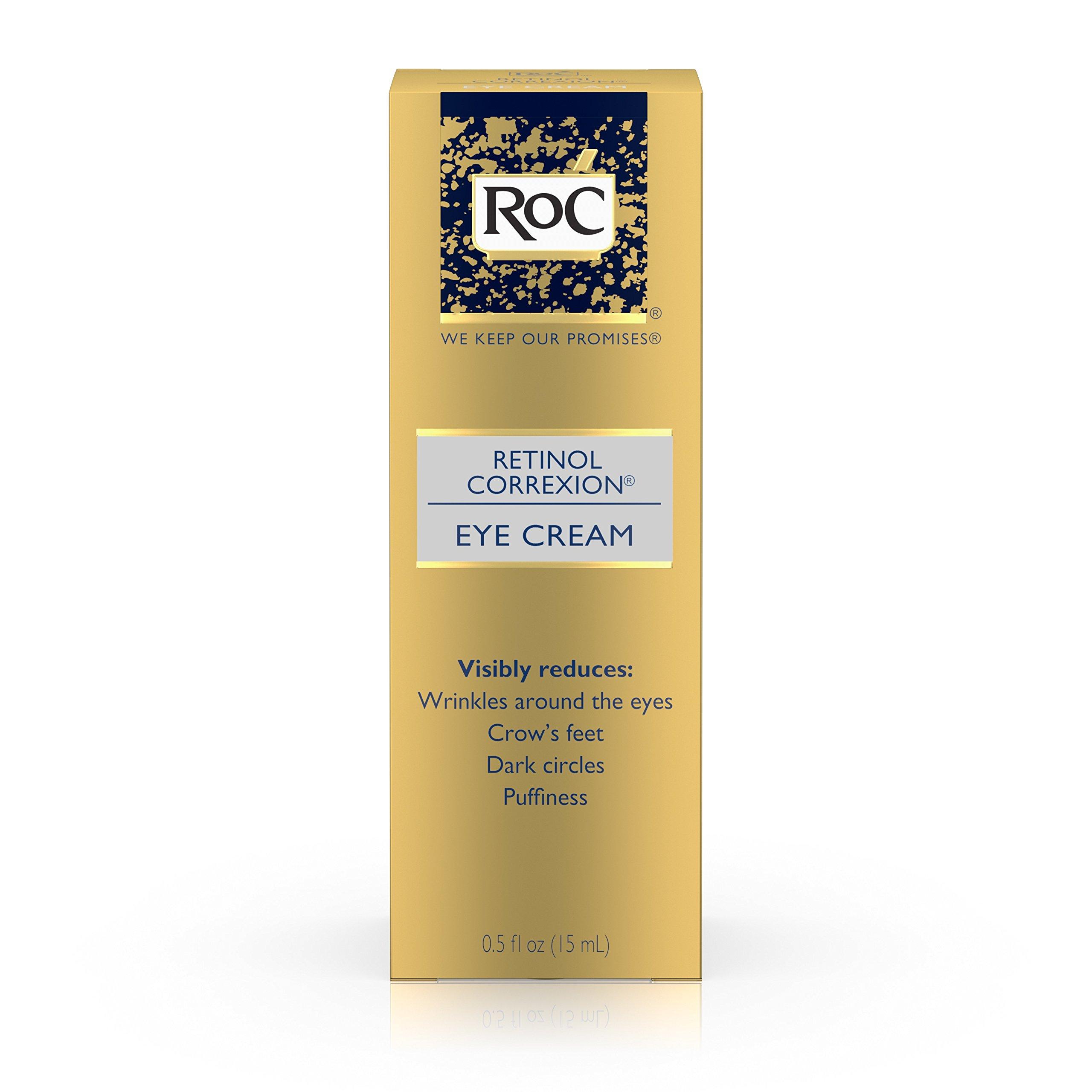Roc Retinol Correxion Anti-Aging Eye Cream Treatment for Eye Wrinkles, Crows Feet, Dark Circles, and Puffiness .5 fl. oz