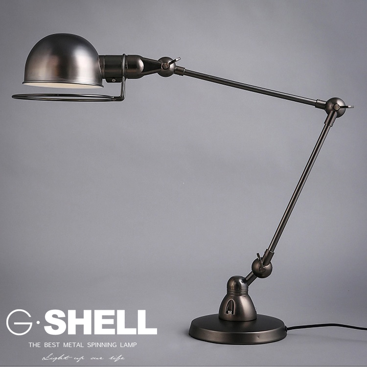 Industrial Wrought Iron Table Lamp Writing Table Tamp