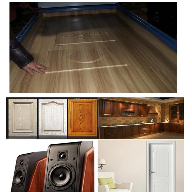 MH2300 de chapa de madera máquina de vacío de membrana de prensa para puerta de pvc