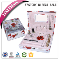 new type of leather printing pattern box for fasion jewelry,high quality jewelry box case