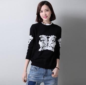 Stylish cotton black printed girls women hoodies, new design sweatshirt image
