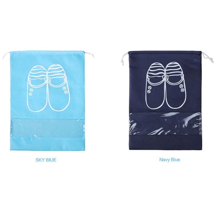 Custom Non-Woven Fabric Shoes Dustproof Bag Drawstring Shoes Storage Bag Wholesale