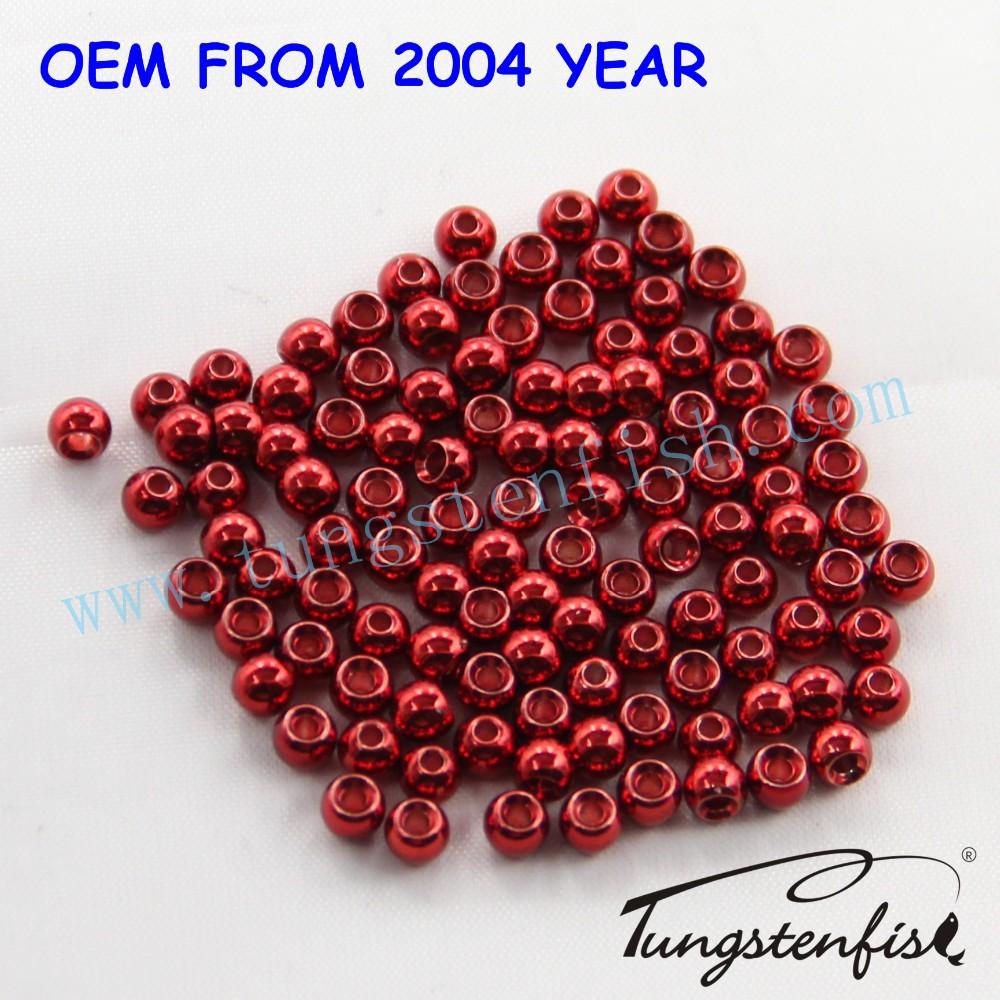 1000  Tungsten Fly Tying Bead Heads  Black 1.5MM Angelsport-Artikel