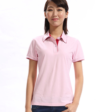 Bulk Cheap Pink Women Cotton Polo Shirt