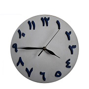 12 inch creative colorful tempered glass wall clock with UV printing