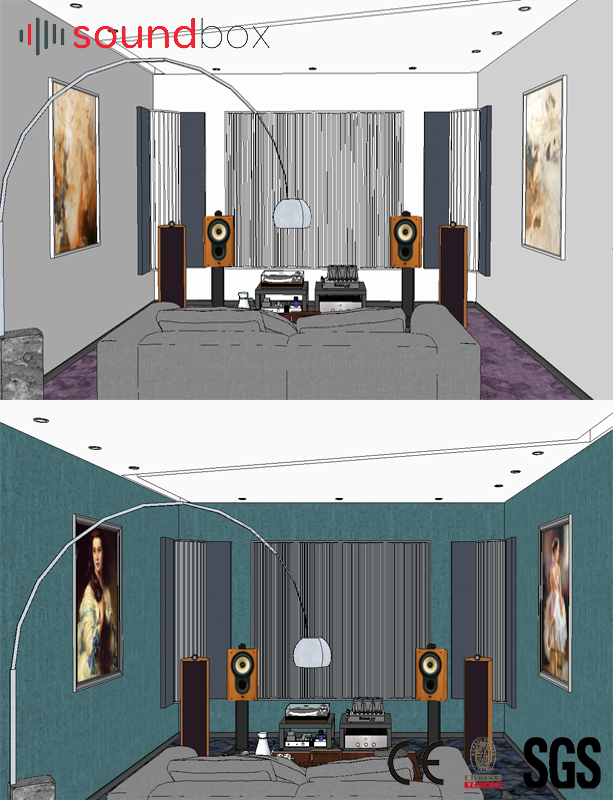 friendly interior decorative wood wall panel sound diffusion for recording studios,music hall,HiFi room