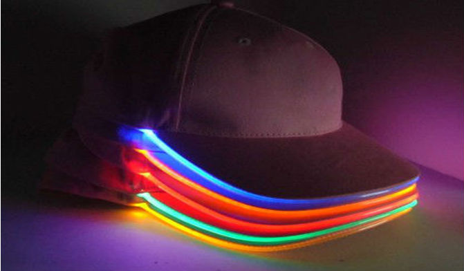 baseball cap with led lights in brim uk new design light hat party hats caps built