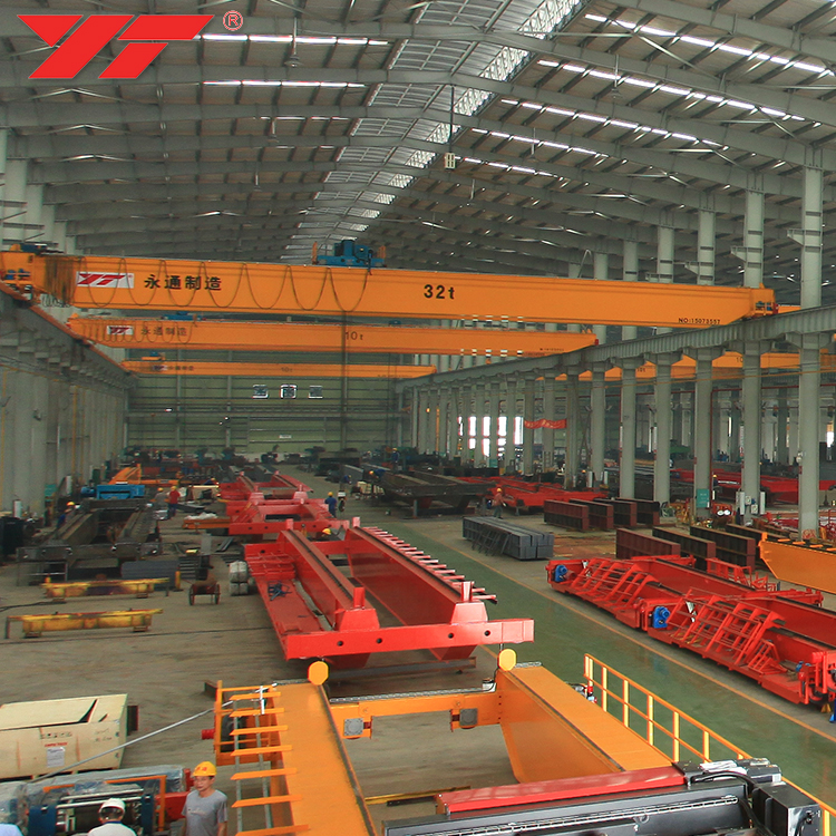 Low Cost High Performance double beam bridge 25 ton 30 ton 50 ton overhead crane price for steel factory