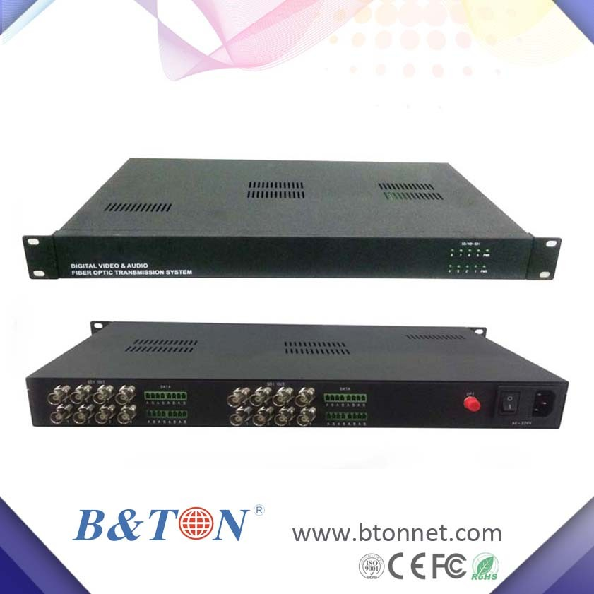 4 Channel 3g Hd Sdi Multiplexer Over Video/audio Fiber Optical To ...