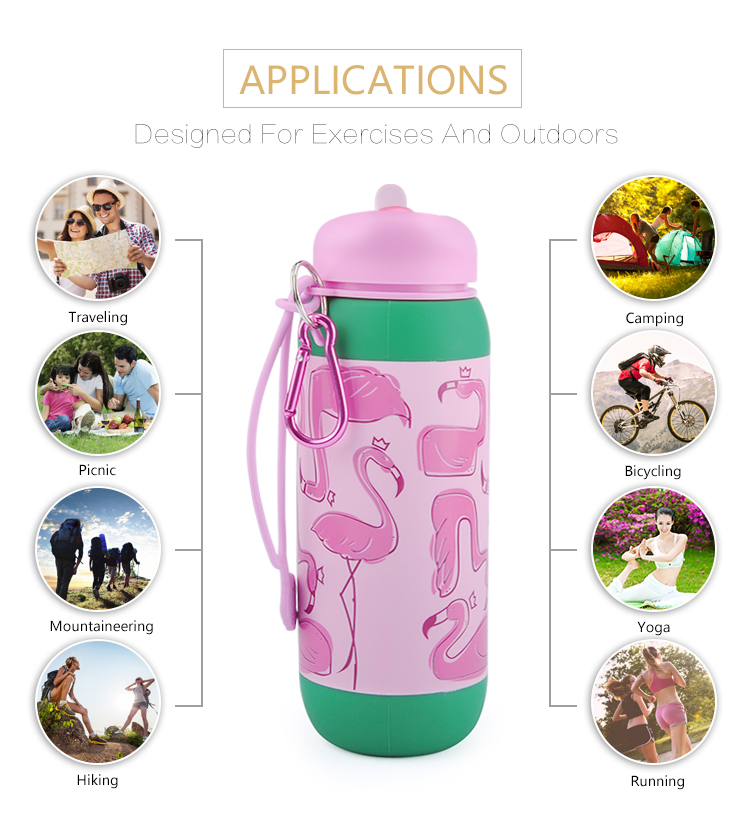 Plastic lid custom bpa free water bottle for kids foldable bottle.jpg