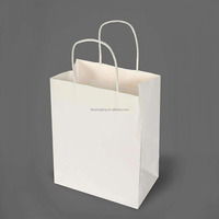 custom recycle craft kraft gift carry shopping paper bag with handle