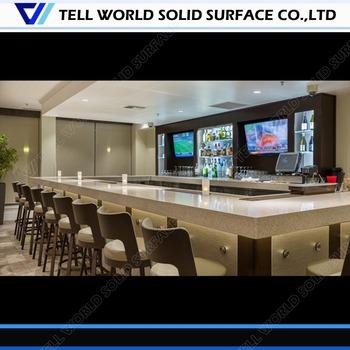 white l shaped modern bar counter commercial led cafe bar. Black Bedroom Furniture Sets. Home Design Ideas
