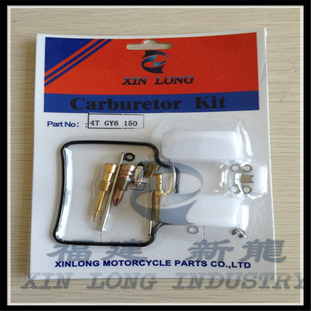 Chinese Scooter Parts Gy6 150cc Carburetor Rebuild Kit with Float for ATV Quad Moped Scooter