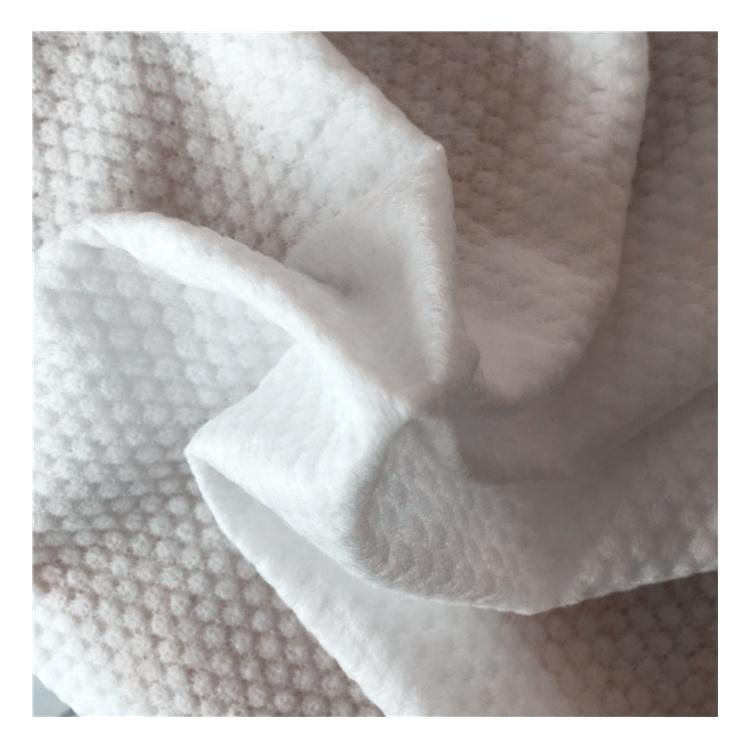 Di alta qualità 100% poliestere spunlace nonwovenfabric interlining PET materiale riciclabile per salviettine umidificate e chiaro salviette