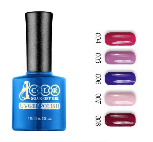 12pcs Color 1000 Sock off gel nail polish 10ml 75 colors for choice feifan