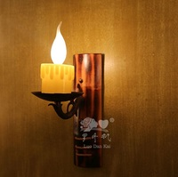 Art Exclusive Creative bamboo with candle Head House lamp shade Wall lamp