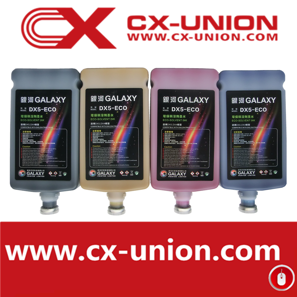 Dx5 eco solvent ink for Galaxy large format printer
