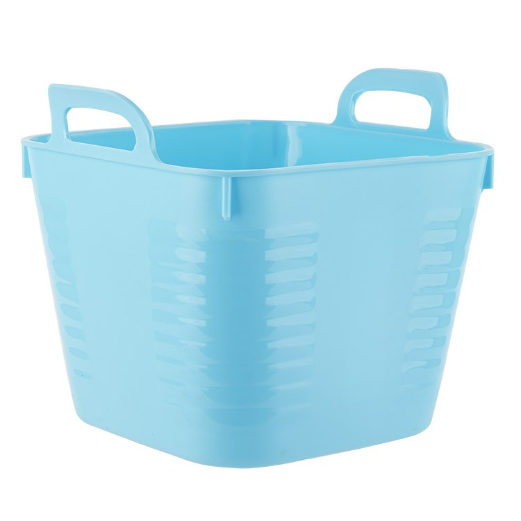 home blue small plastic storage pe bucket with handle