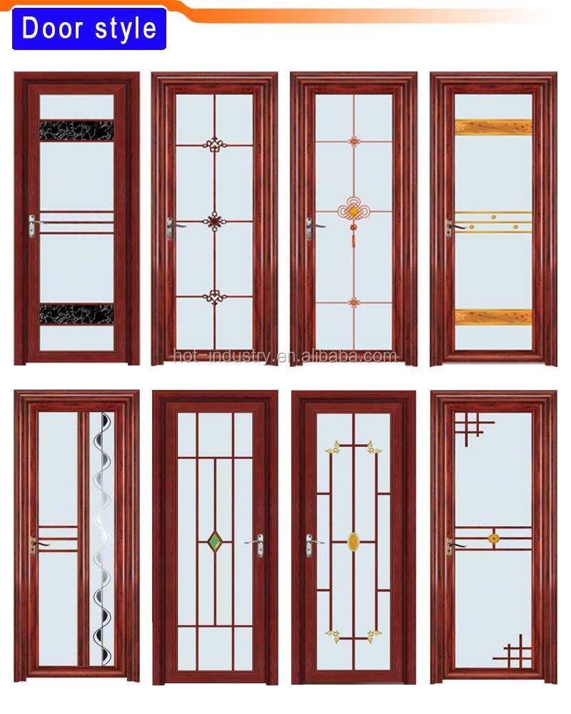 Butterfly Pattern White Frame Aluminum Door Industrial