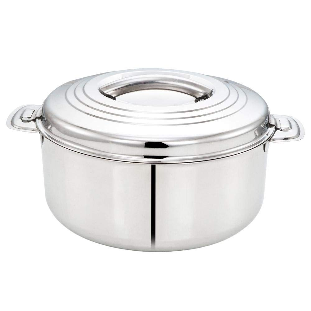 Tabakh 1-Liter Stainless Steel Casserole Hot-Pot Food Warmer & Serving Bowl, 1000ml