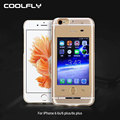 Make Calls Rechargeable External 1200 mah Battery Case for iPhone Power Bank Luxury Case for iPhone