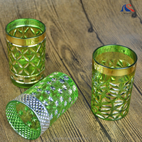 New Arrival Arabic Wedding Favors Tea Glass Gold Plated